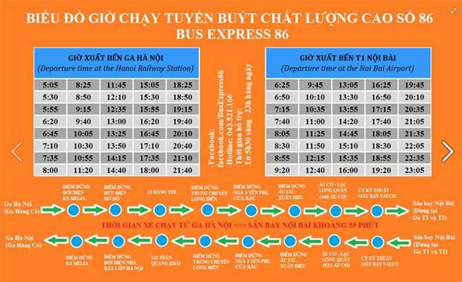 High Quality Express Bus 86 Noi Bai Airport And Hanoi City – Hanoi Train Station
