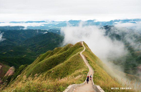 The Great Wall of Vietnam hugs a mountain range